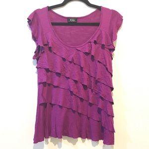 UNAVAILABLE ❌ BWear Purple Ruffle Top